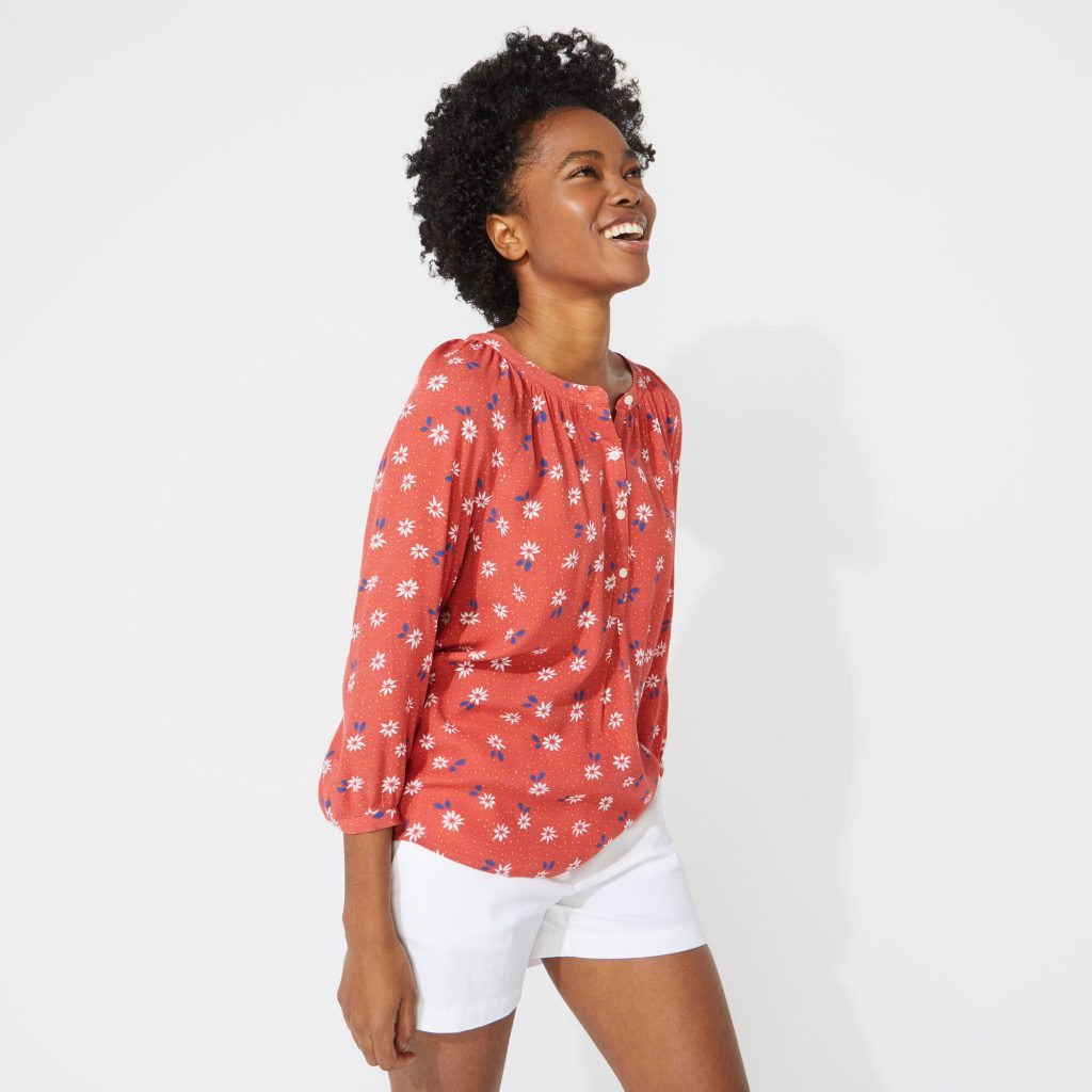 NAUTICA JEANS CO. PATTERNED POPOVER SHIRT