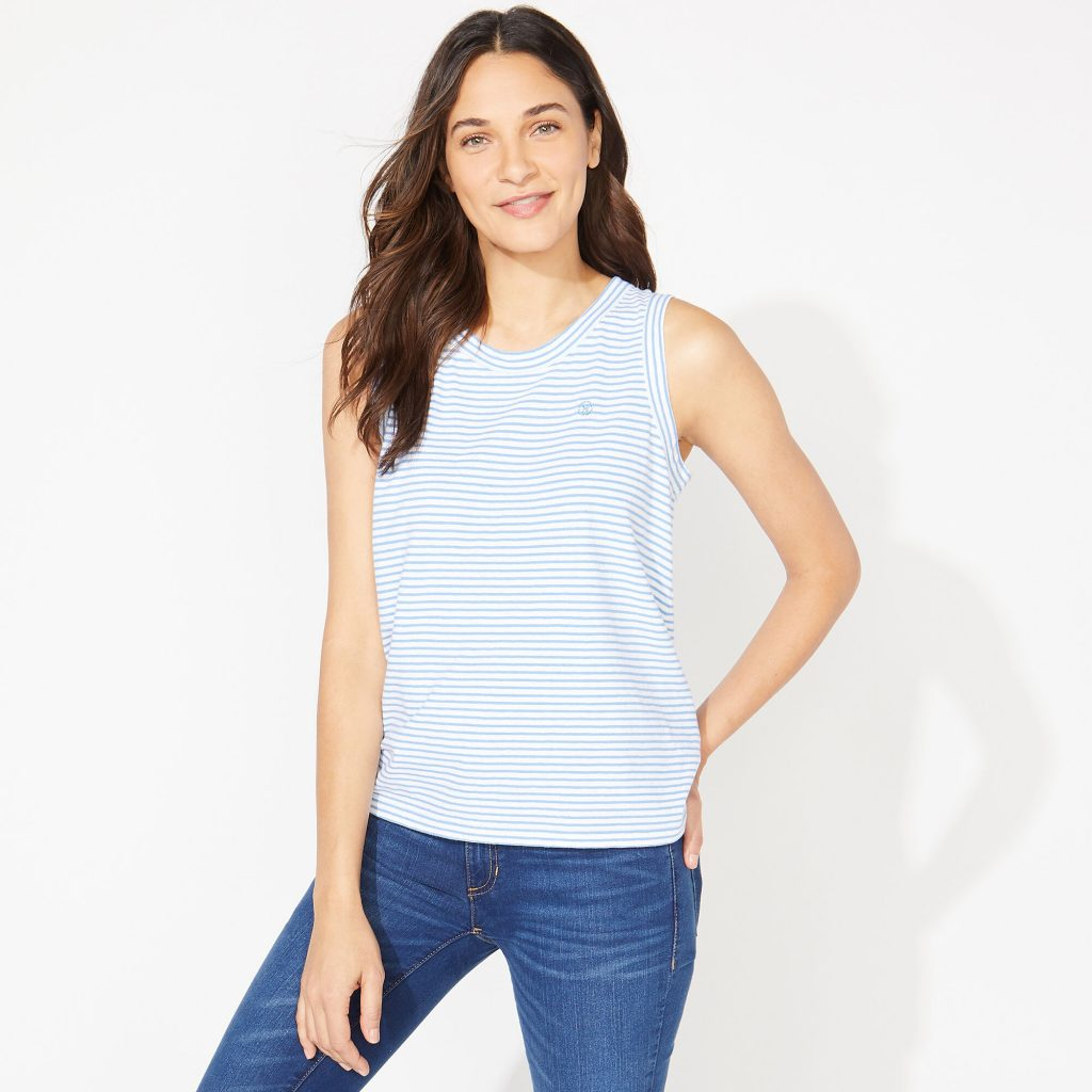 THE NAUTICA JEANS CO. TIE-BACK  STRIPED TOP