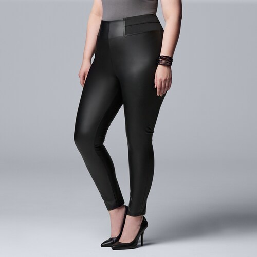 THE SIMPLY VERA HIGH RISE FAUX LEATHER LEGGING