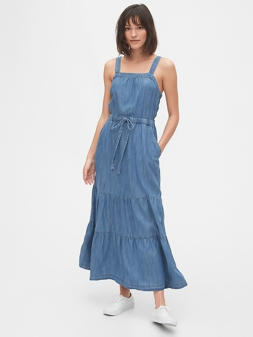THE APRON MAXI DRESS IN TENCEL