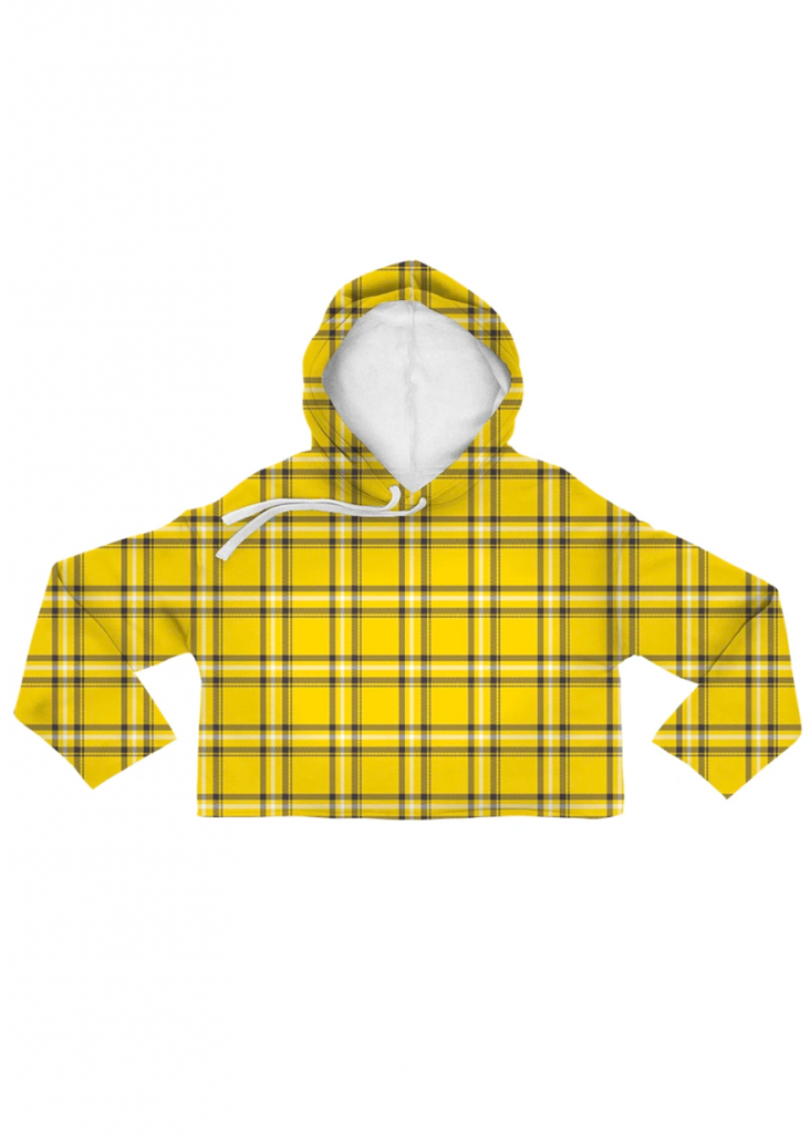THE CLUELESS PLAID CROP HOODIE