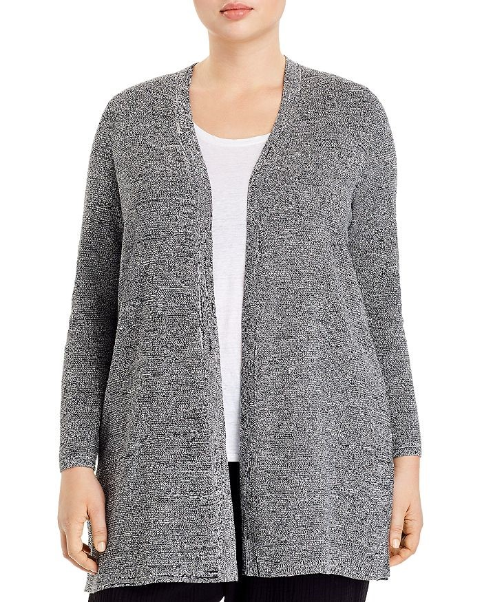 THE EILEEN FISHER SILK AND ORGANIC LINEN OPEN CARDIGAN