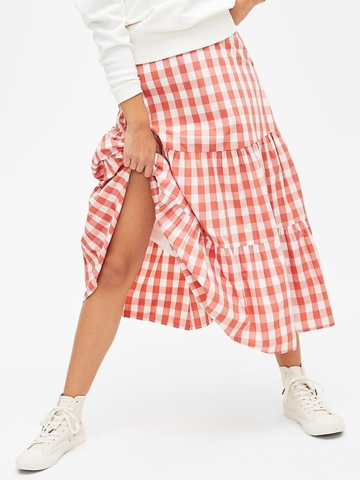 THE GINGHAM MIDI SKIRT