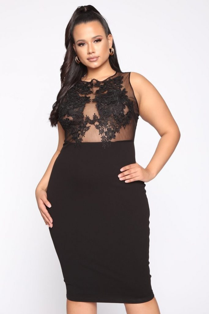 THE MAKE YOUR WAY HERE MIDI DRESS IN BLACK