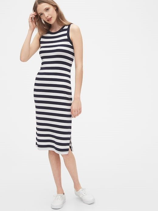 THE MODERN SLEEVELESS MIDI DRESS