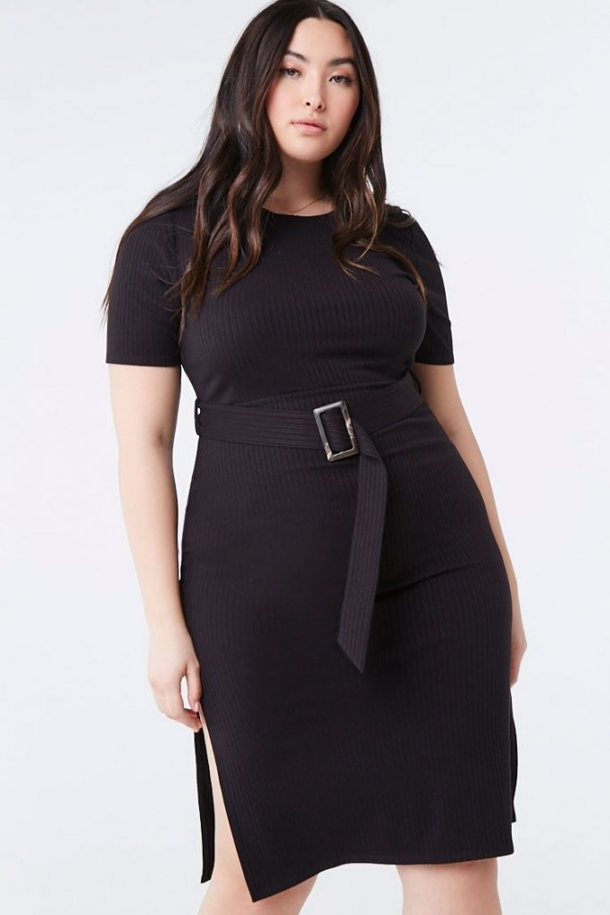THE PLUS SIZE BELTED BODYCON DRESS
