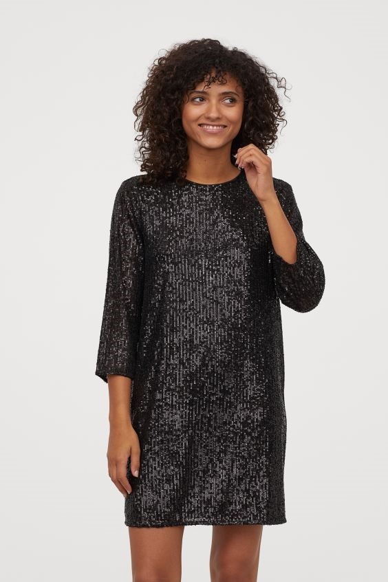 THE SHORT SEQUINED DRESS