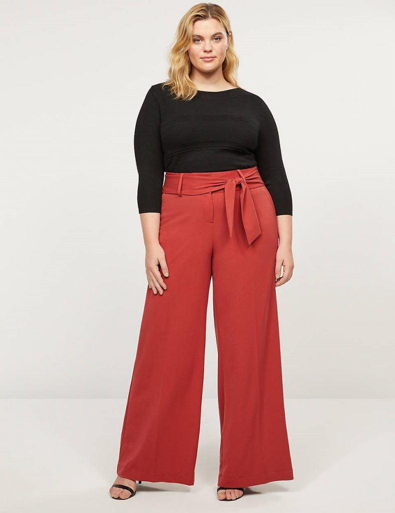 THE TAILORED STRETCH HIGH-RISE WIDE LEG PANT