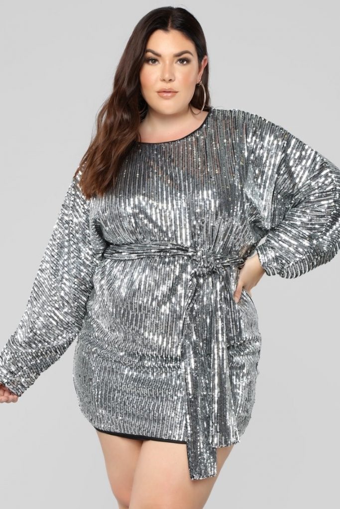 THE WHERE'S THE PARTY AT DRESS IN SILVER