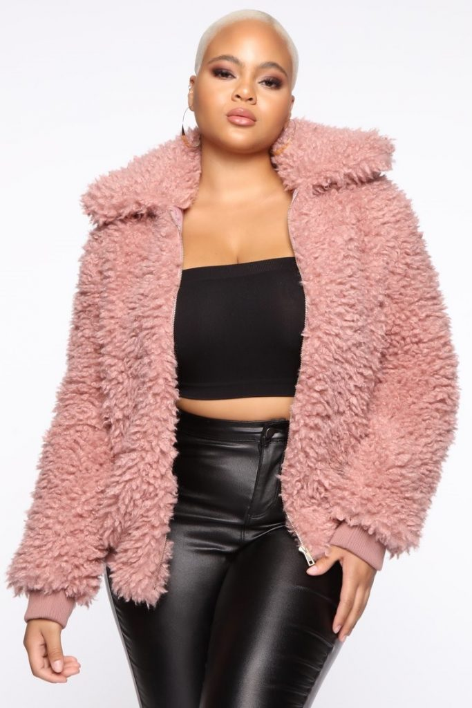 THE DO YOU FEEL ME FUZZY FUR BOMBER JACKET