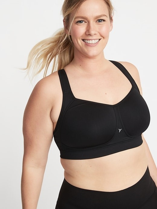 THE HIGH SUPPORT MESH TRIM PLUS SIZE SPORTS BRA