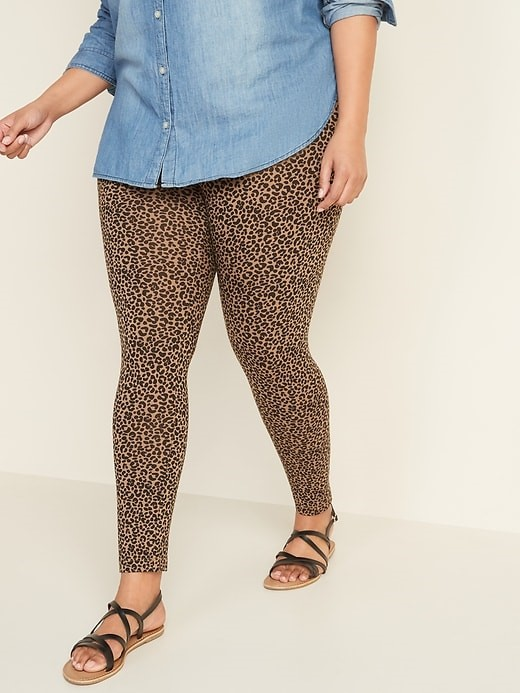 THE HIGH WAISTED PLUS SIZE JERSEY FULL-LENGTH LEGGINGS