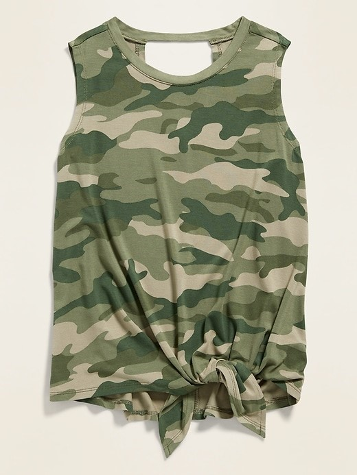 THE LUXE TIE-HEM SLEEVELESS TOP FOR GIRLS