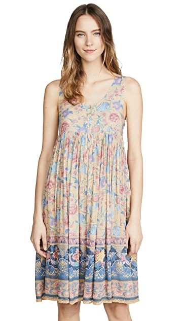 THE SPELL AND THE GYPSY COLLECTIVE SEASHELL BABYDOLL MIDI DRESS