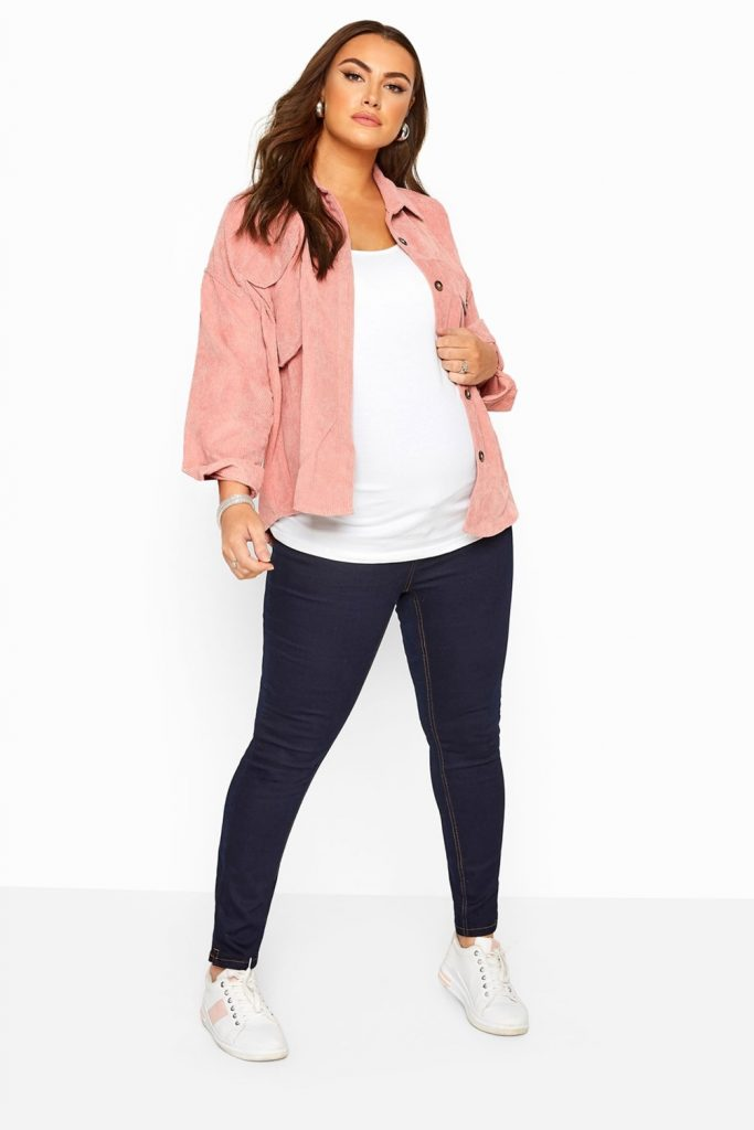 THE BUMP IT UP MATERNITY INDIGO BLUE SKINNY JEANS WITH COMFORT PANEL