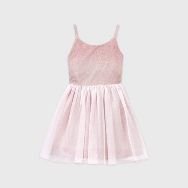 THE GIRLS' OMBRE SPARKLE TULLE DRESS
