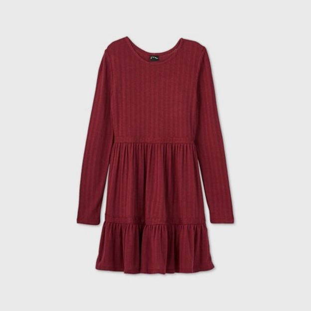 THE GIRLS POINTELLE TIERED DRESS