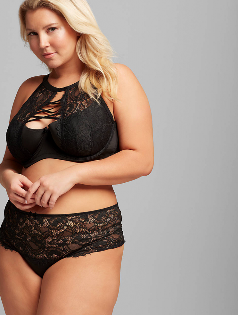 THE HIGH NECK LIGHTLY LINED FRENCH BALCONETTE BRA