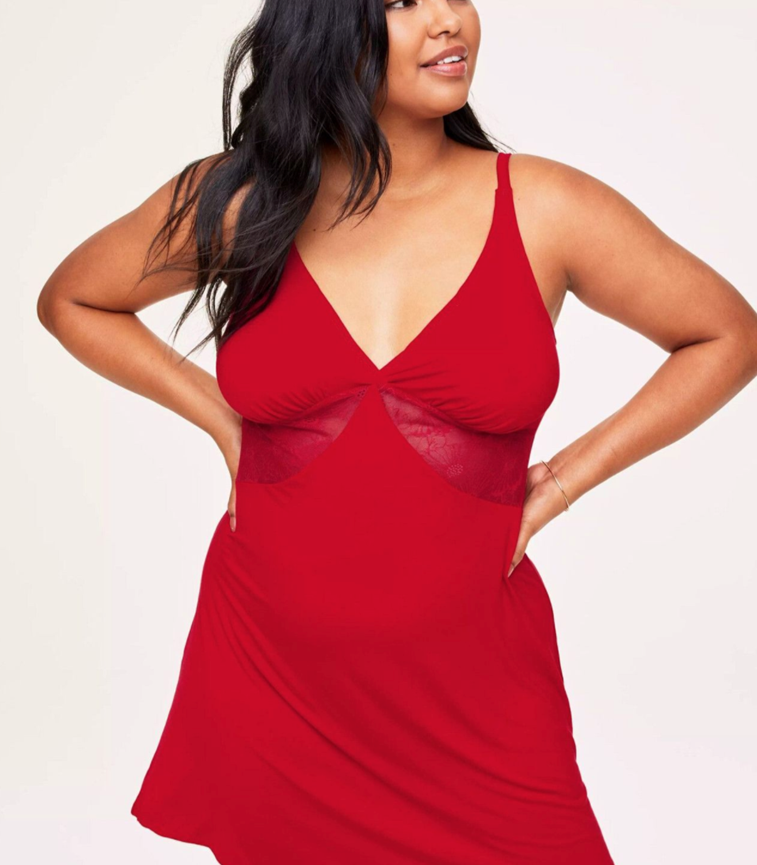 THE LILLY UNLINED PLUS CHEMISE