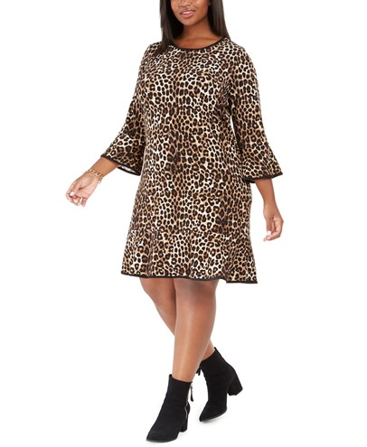 Macy's Michael Michael Kors Plus Size Animal-Print Shift Dress - $82.50