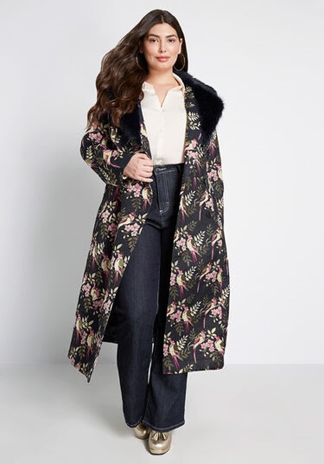 THE MODCLOTH X COLLECTIF UPSCALE ATTITUDE COAT