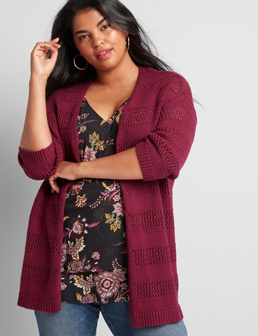 THE OPEN-STITCH OVERPIECE SWEATER