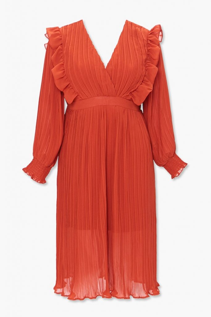 Forever21 Plus Size Accordion-Pleated Dress in Rust - $35.00