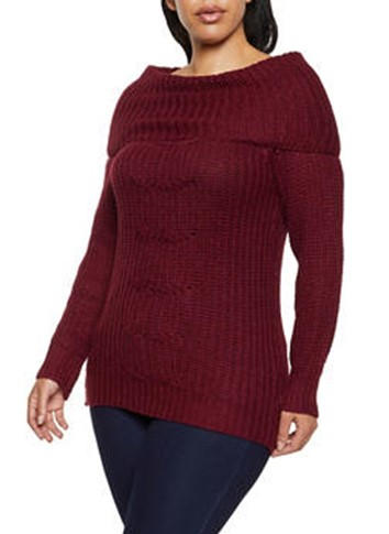 THE PLUS SIZE BOAT NECK SWEATER