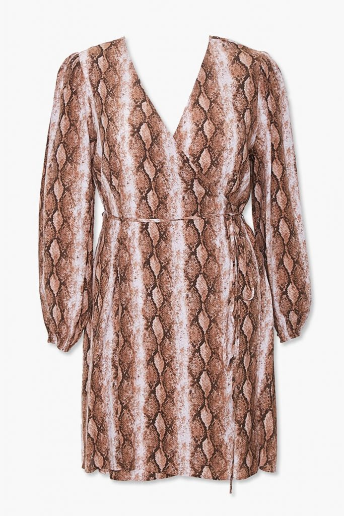 Forever21 Plus Size Faux Snakeskin Wrap Dress - $27.99