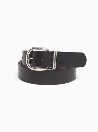 THE REVERSIBLE FAUX LEATHER BUCKLE BELT