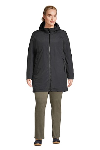 THE WOMENS PLUS SIZE SQUALL 3 IN 1 WATERPROOF WINTER LONG COAT WITH HOOD